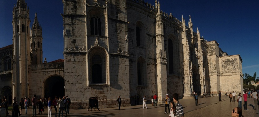 In Belem, Portugal, the Monastery of Jeronimos its Hard to Miss, as well as Pasteis de Belem