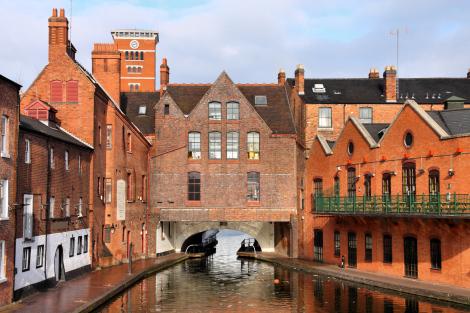 Birmingham England Canal City