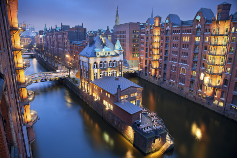 Hamburg Germany Canal City