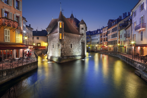 Annecy France Canal City